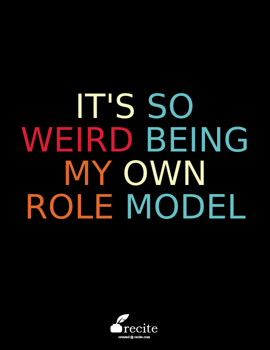 Mindy Lahiri quote from The Mindy Project: It's so weird being my own role model