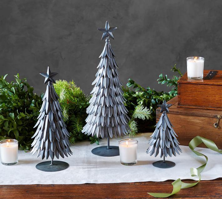 Apartment Christmas Decorations for 2017 galvanized mini tree