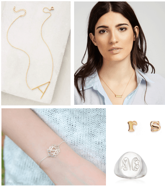 Minimalist jewelry trends: Personalized jewelry with your initials or name