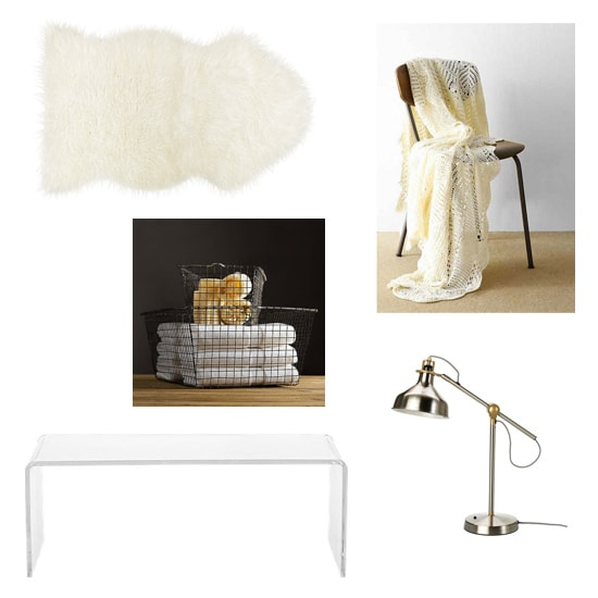How to Style a Sheepskin rug: Minimalist