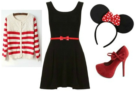 Minnie mouse halloween costume - black dress Halloween costume ideas