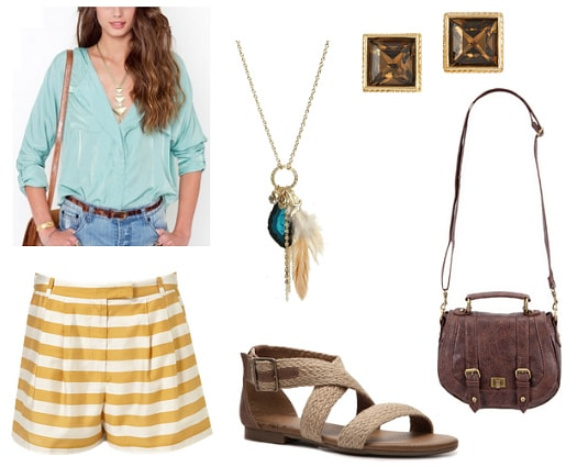 mint and mustard outfit 3