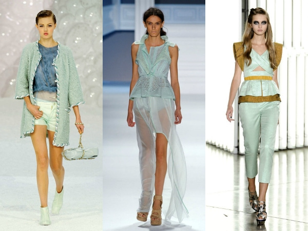 mint on the spring 2012 runways