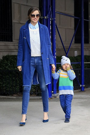 Miranda Kerr blue coat