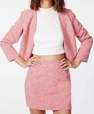 Missguided tweed skirt