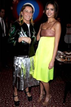 Elle Image of Miuccia Prada and Jessica Alba