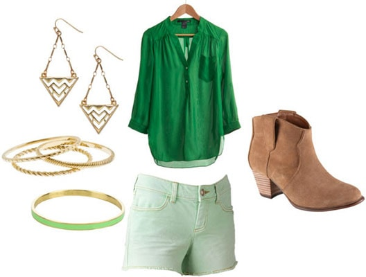How to wear different shades of green this fall