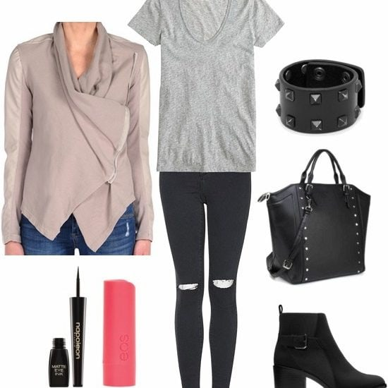Mixed media jacket class outfit