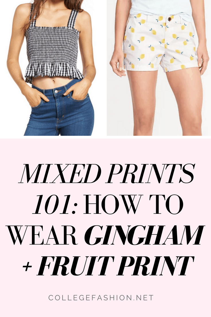 Mixed prints 101: How to wear gingham and fruit prints together