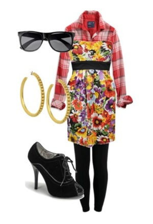 How to wear mixed prints