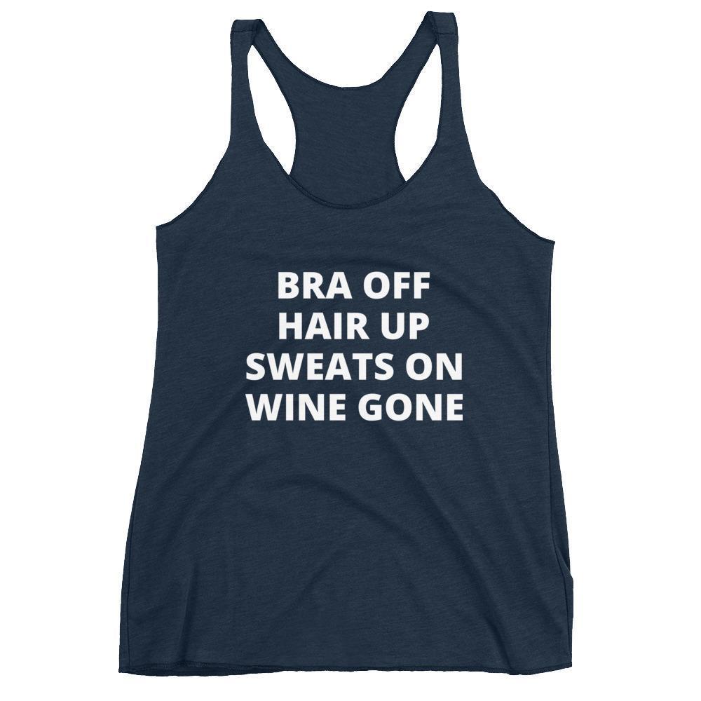 Feel Great Goods tank: Bra off, hair up, sweats on, wine gone