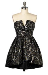 Mod Cloth metallic strapless dress