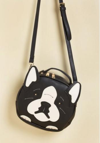 Modcloth woof dog shaped bag