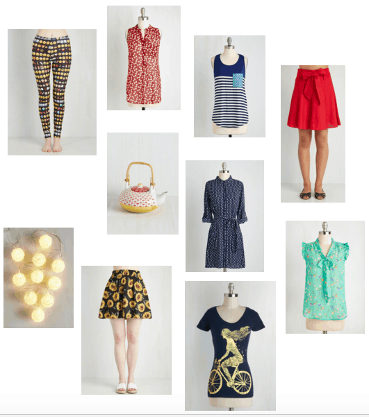 Pieces off of Modcloth