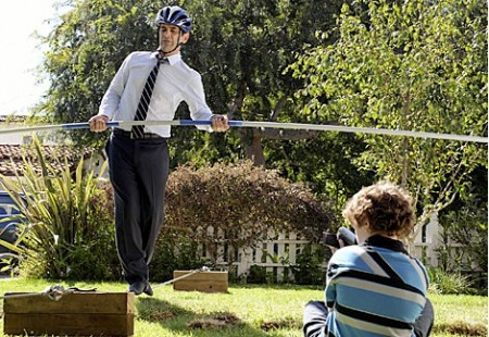 Modern family Phil on a tightrope