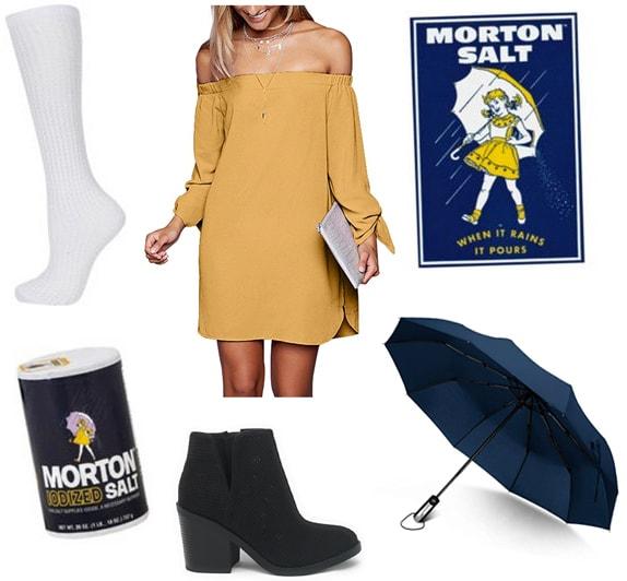 Last minute Halloween costume ideas: Morton Salt girl costume