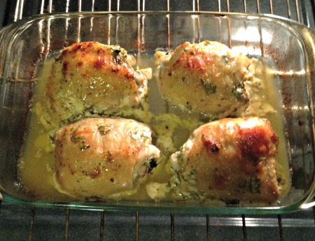 Mostly cooked chicken