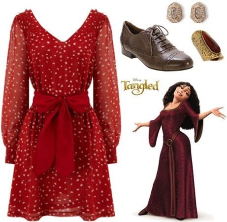 Outfit inspired by Mother Gothel from Disney's Tangled
