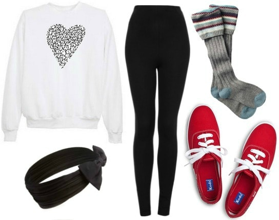 Movie night in V-Day outfit