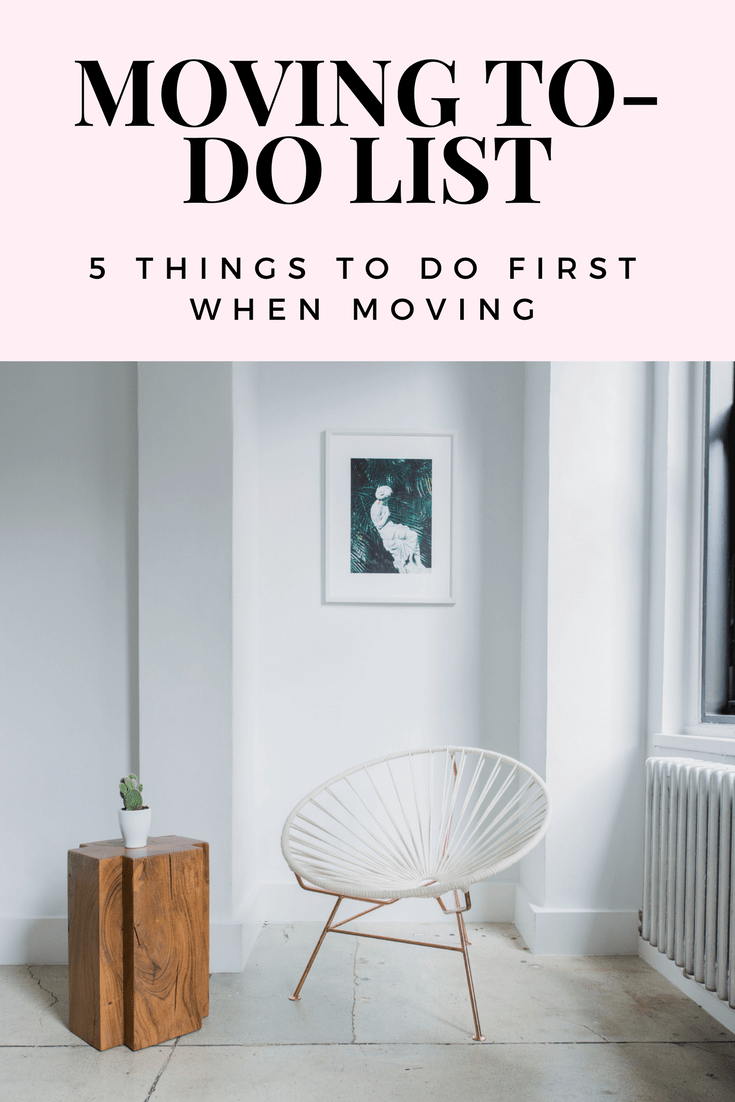 Moving to-do list: 5 things you should do first when you move to a new apartment