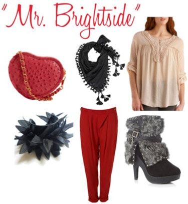 Outfit inspired by The Killers Mr. Brightside