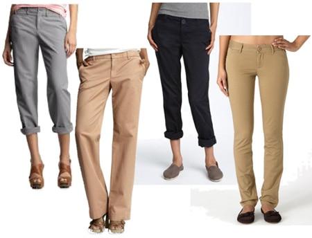 Mr. Rogers style khaki pants