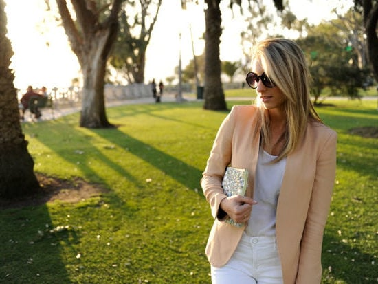 woman in a summer business casual outfit