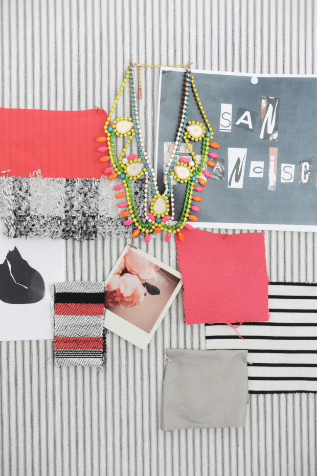 Emily Schuman's inspiration board for new clothing line