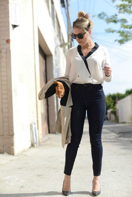 Emily Cupcakes & Cashmere high-waist jeans