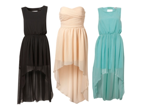 high low 'mullet' dresses