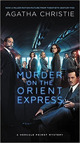 Murder on the Orient Express movie book cover - Agatha Christie