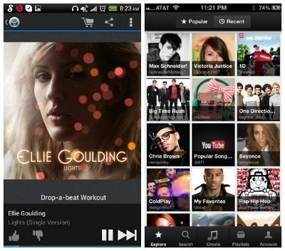 Music apps for droid and iphone