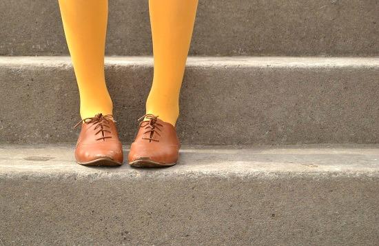 Mustard yellow tights