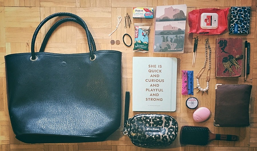 Picture of my purse with everything taken out