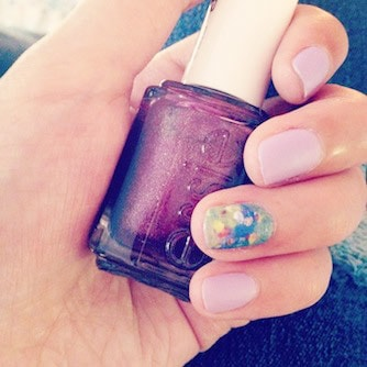 Nail art inspired by impressionism