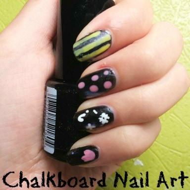 Nail art tutorial chalkboard nails