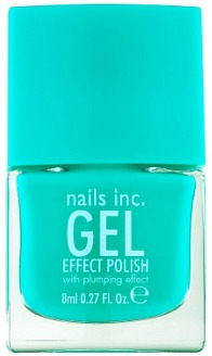 Nails Inc. gel effect polish in turquoise