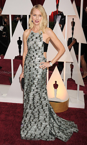 Naomi Watts in Armani Privé at the 2015 Oscars