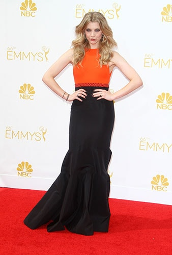 Natalie Dormer in J. Mendel at the 2014 Emmy Awards