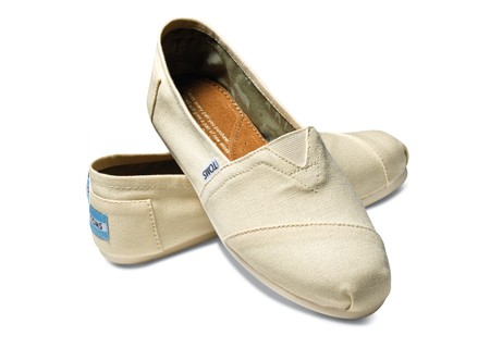 Natural-colored Toms Shoes