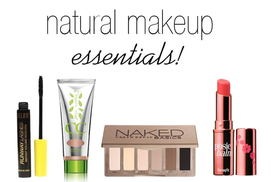 Natural makeup essentials