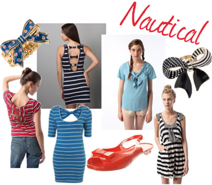 Nautical bows fashion trend