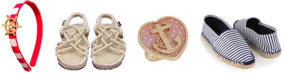 Nautical shoes and nautical accessories