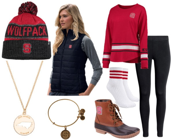 NC State tailgating outfit