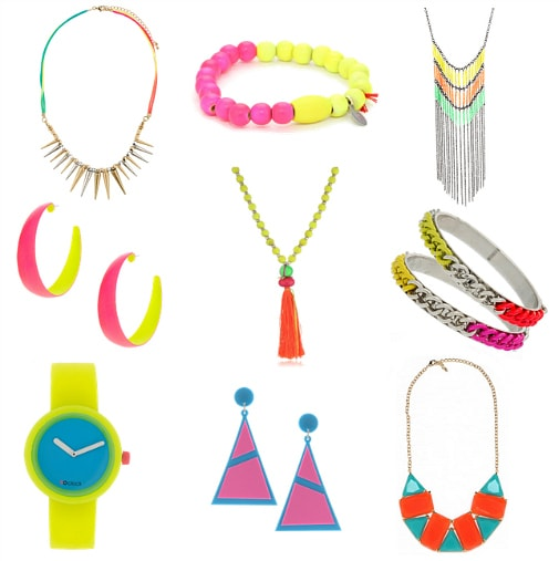 neon color-blocked jewelry