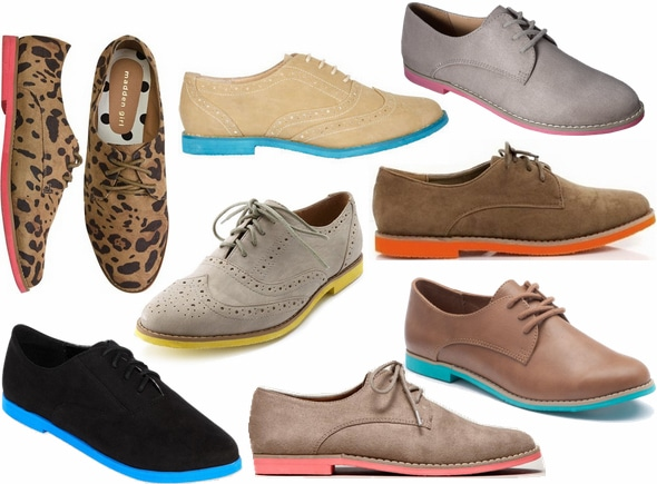 neon sole oxfords fall 2012 shoe trend