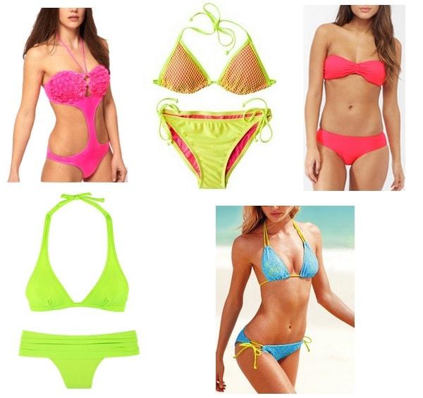 neon swimsuits summer 2012