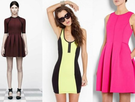 Neoprene scuba dress trend