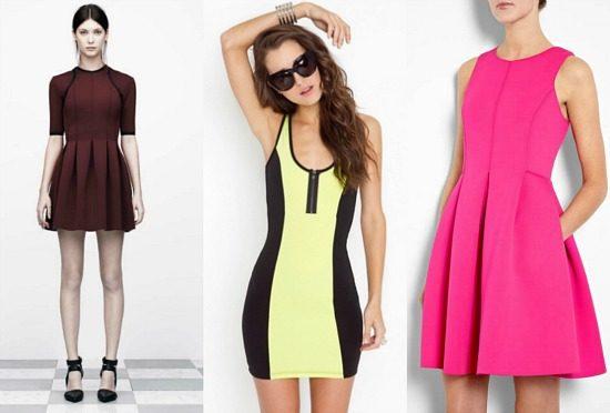 Neoprene scuba dress trend