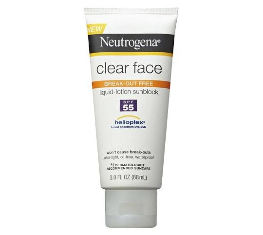 Neutrogena Clear Face Liquid Lotion Sunblock